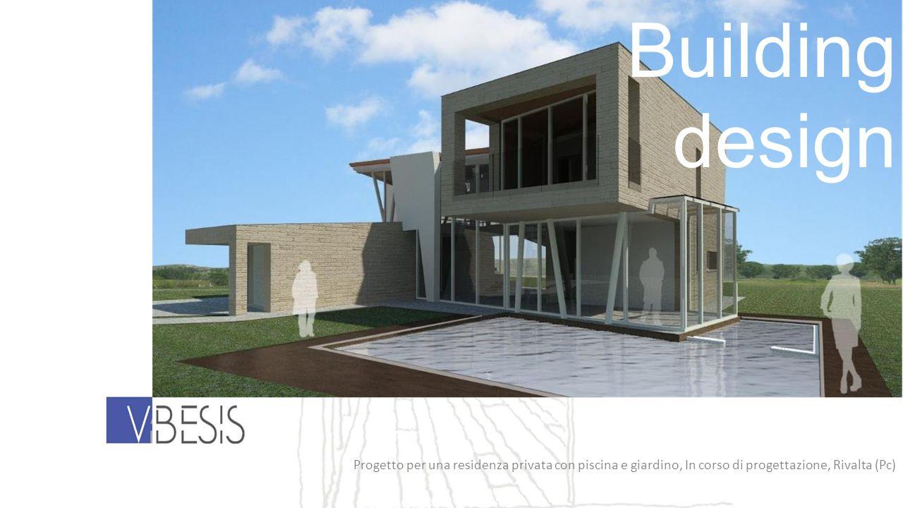 Building design Progetto per una residenza privata con piscina e giardino, In corso di progettazione, Rivalta (Pc)