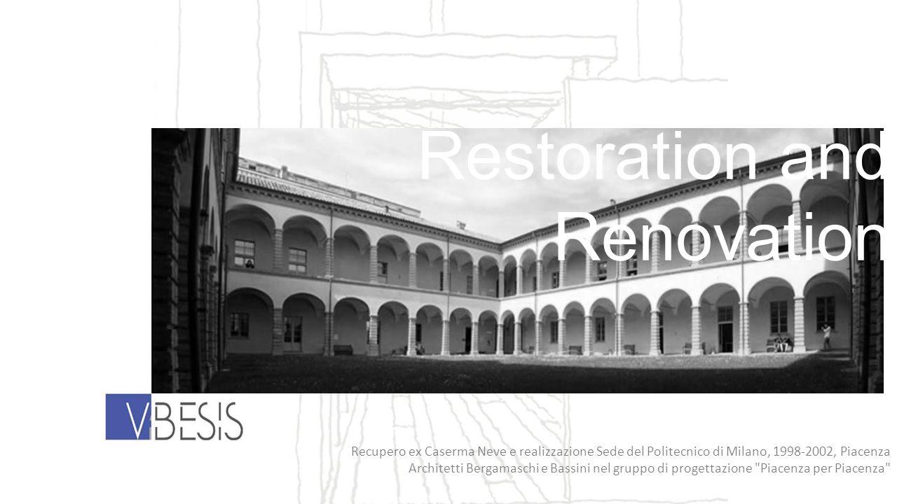 Recupero ex Caserma Neve e realizzazione Sede del Politecnico di Milano, 1998-2002, Piacenza Architetti Bergamaschi e Bassini nel gruppo di progettazi
