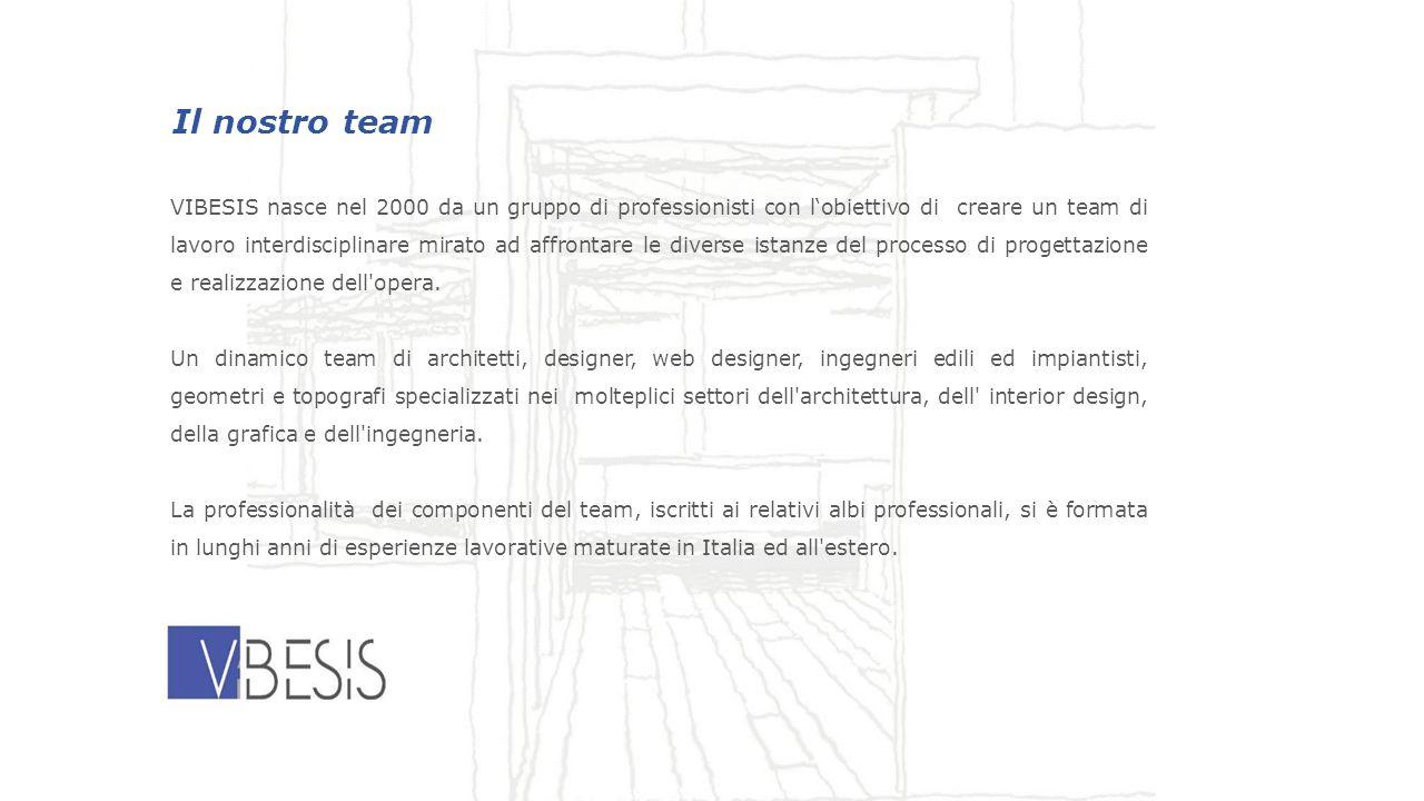 Il nostro team VIBESIS nasce nel 2000 da un gruppo di professionisti con lobiettivo di creare un team di lavoro interdisciplinare mirato ad affrontare