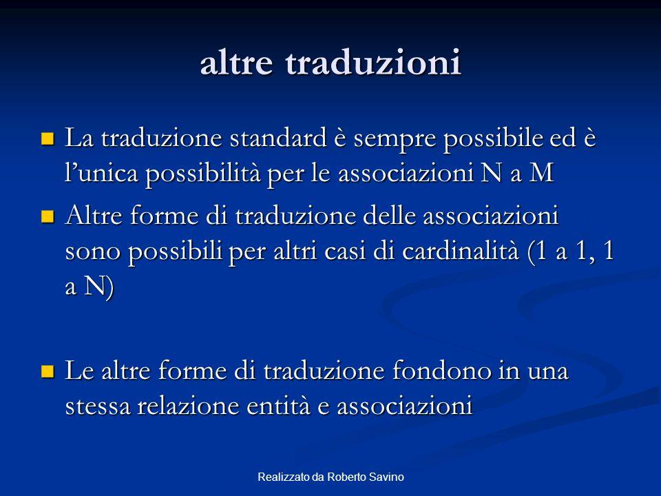 Realizzato da Roberto Savino altre traduzioni La traduzione standard è sempre possibile ed è lunica possibilità per le associazioni N a M La traduzion