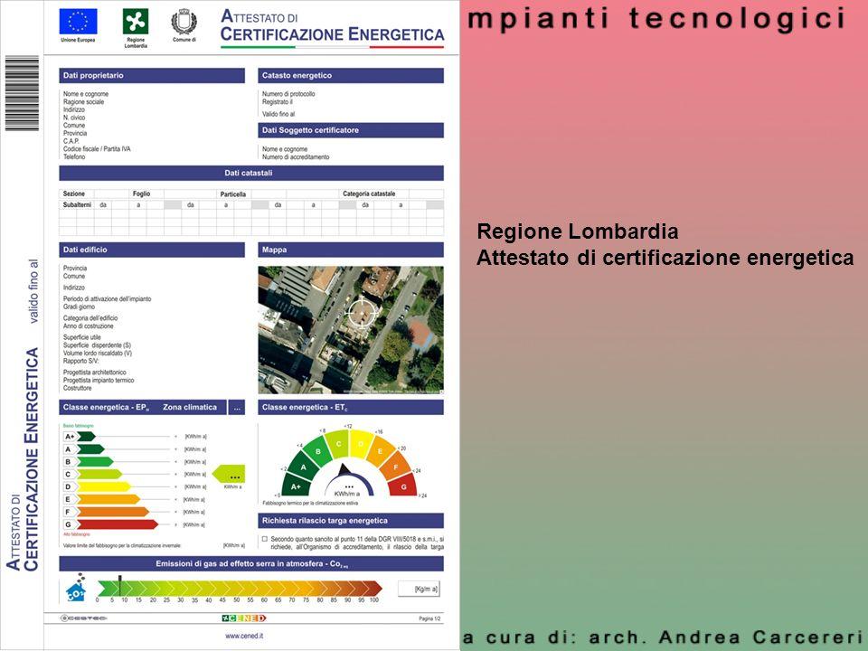 Regione Lombardia Attestato di certificazione energetica