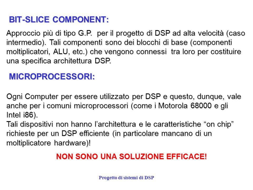 Progetto di sistemi di DSP BIT-SLICE COMPONENT: Approccio più di tipo G.P. per il progetto di DSP ad alta velocità (caso intermedio). Tali componenti