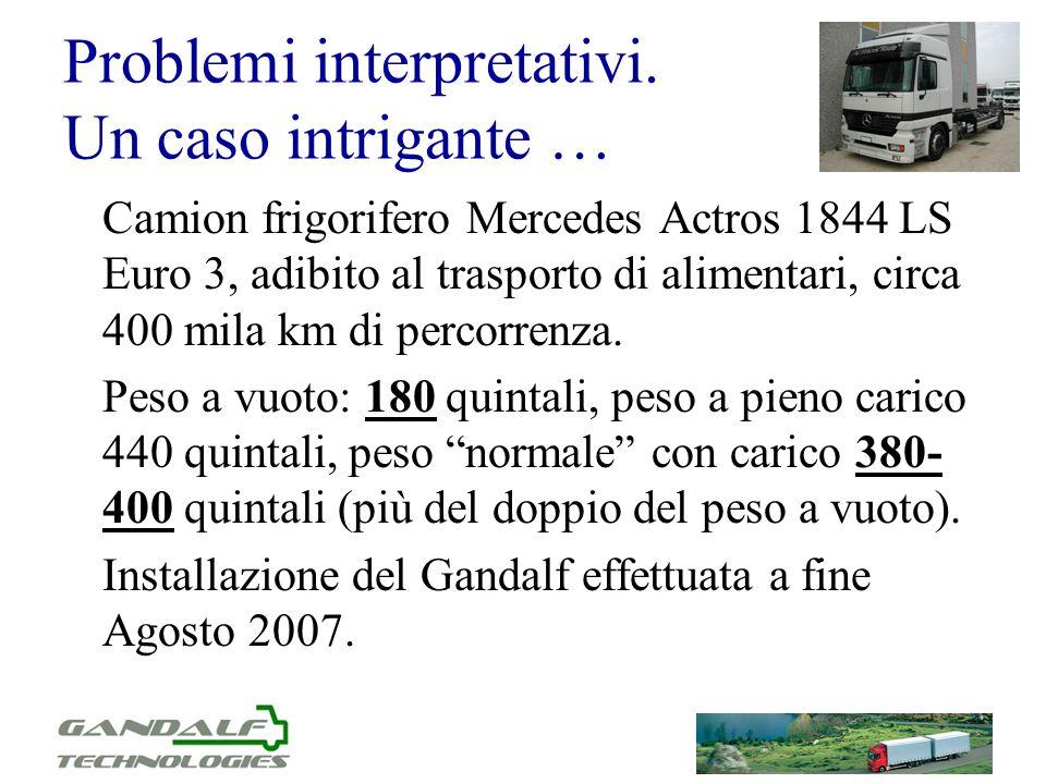 Problemi interpretativi. Un caso intrigante … Camion frigorifero Mercedes Actros 1844 LS Euro 3, adibito al trasporto di alimentari, circa 400 mila km