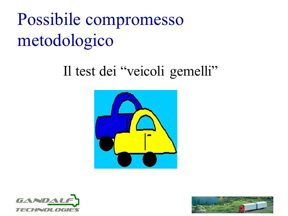 Possibile compromesso metodologico Il test dei veicoli gemelli