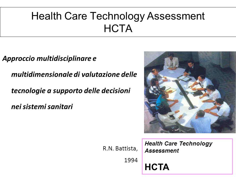 Health Care Technology Assessment HCTA Approccio multidisciplinare e multidimensionale di valutazione delle tecnologie a supporto delle decisioni nei