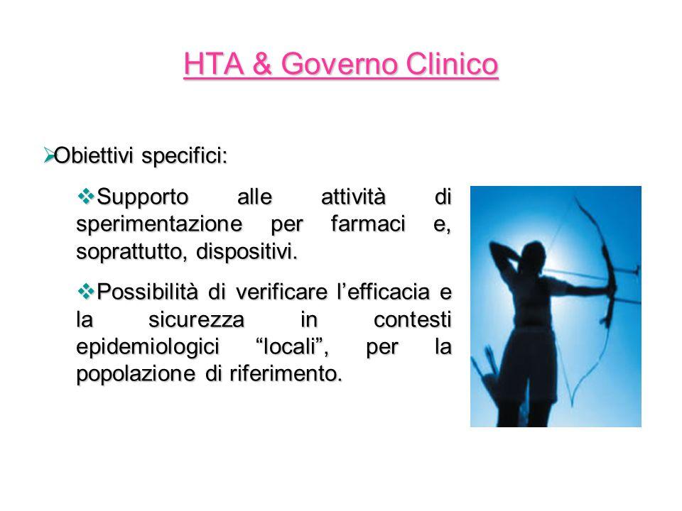 Obiettivi specifici: Obiettivi specifici: Supporto alle attività di sperimentazione per farmaci e, soprattutto, dispositivi. Supporto alle attività di