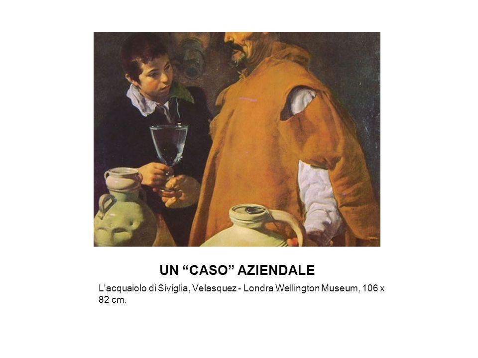 UN CASO AZIENDALE L'acquaiolo di Siviglia, Velasquez - Londra Wellington Museum, 106 x 82 cm.