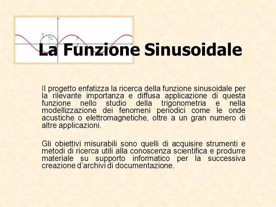 Il progetto enfatizza la ricerca della funzione sinusoidale per la rilevante importanza e diffusa applicazione di questa funzione nello studio della t