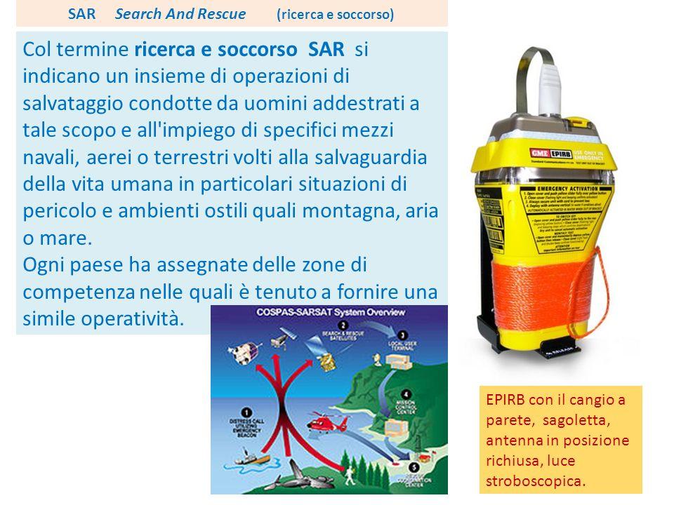 Col termine ricerca e soccorso SAR si indicano un insieme di operazioni di salvataggio condotte da uomini addestrati a tale scopo e all'impiego di spe