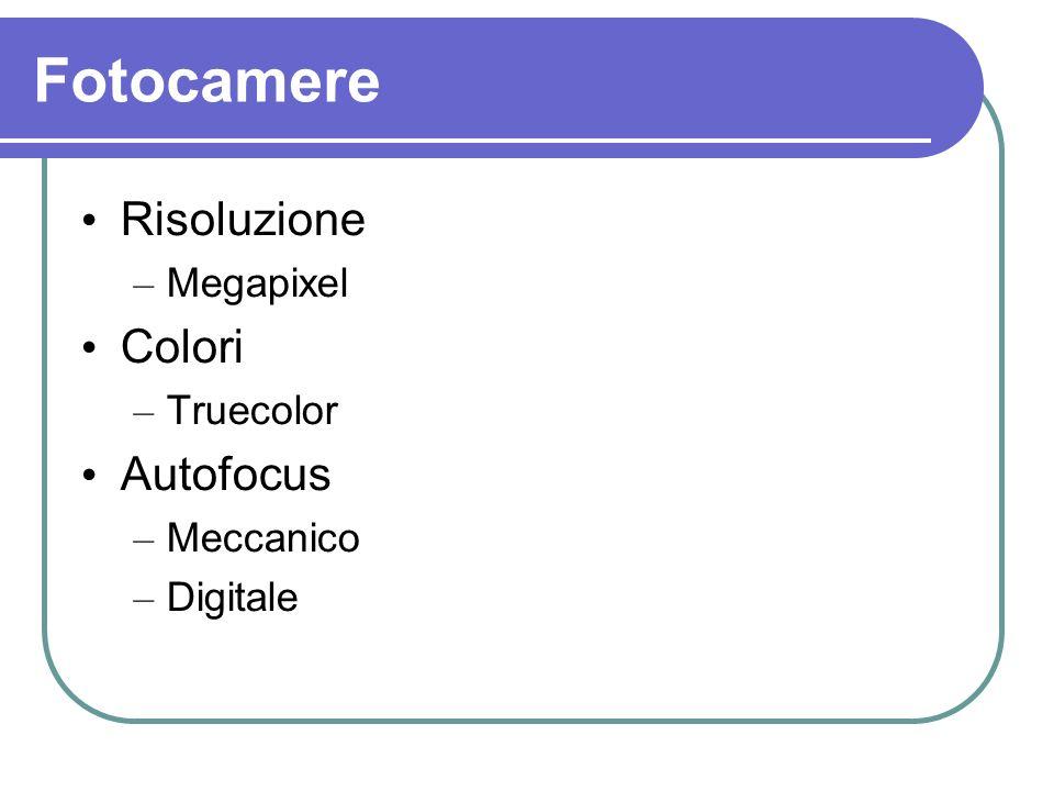 Fotocamere Risoluzione – Megapixel Colori – Truecolor Autofocus – Meccanico – Digitale