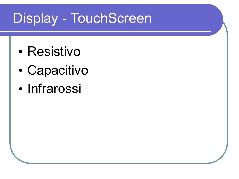 Resistivo Capacitivo Infrarossi Display - TouchScreen