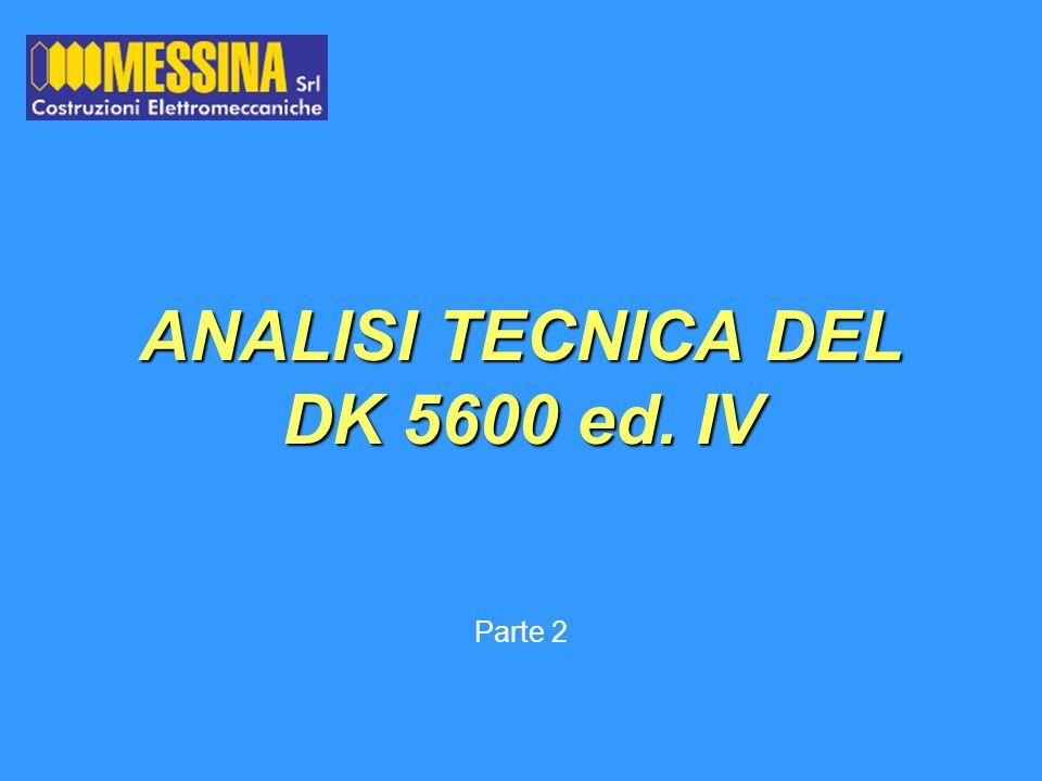 ANALISI TECNICA DEL DK 5600 ed. IV Parte 2