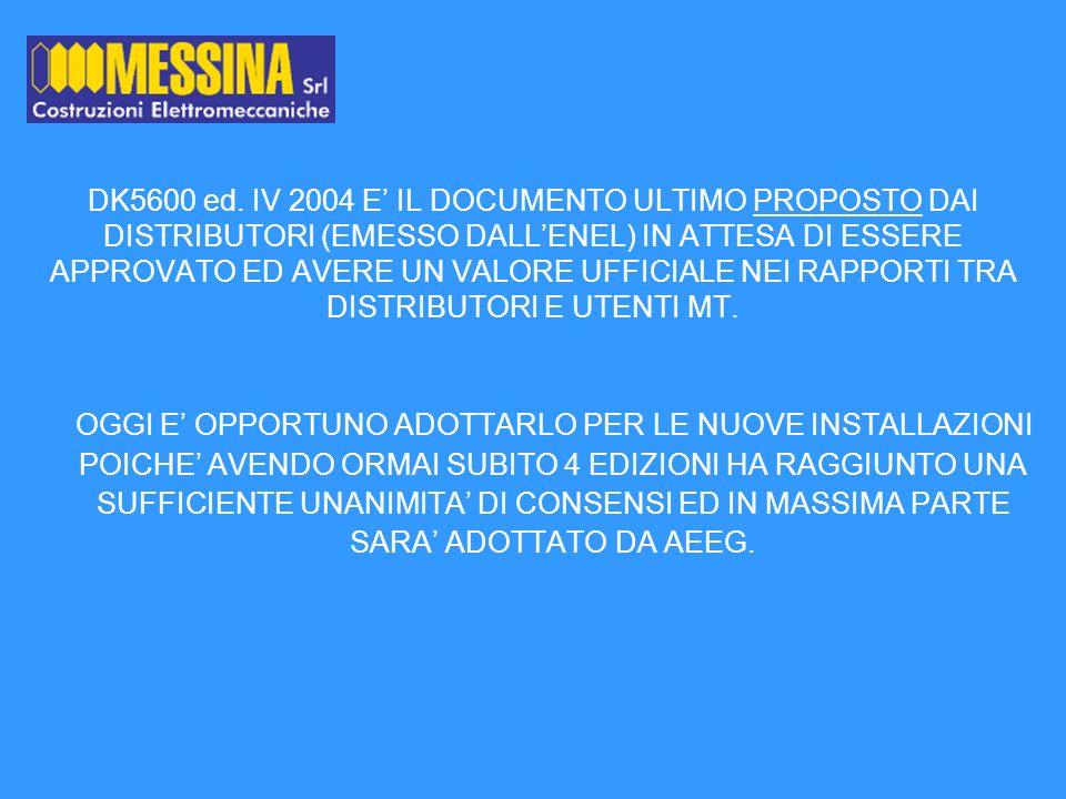 A PARTIRE DAL 2006 Gli utenti con impianti conformi al DK5600 avranno diritto a indennizzi automatici quando saranno soggetti a interruzioni superiori ai limiti regolamentati in numero e durata dallAutorità per lenergia.