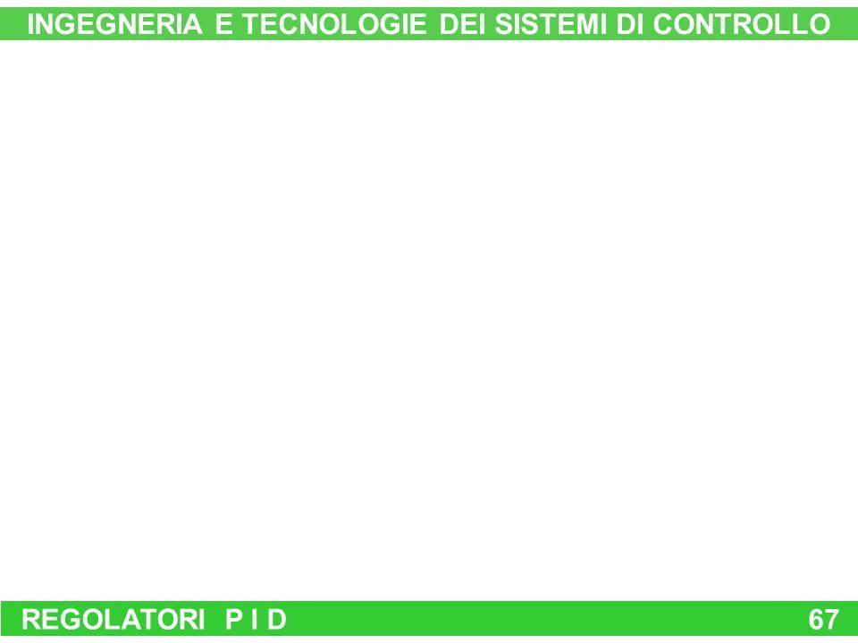 REGOLATORI P I D67 INGEGNERIA E TECNOLOGIE DEI SISTEMI DI CONTROLLO