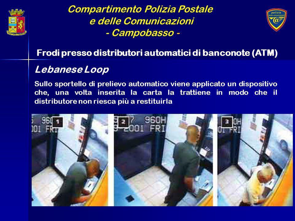 Compartimento Polizia Postale e delle Comunicazioni - Campobasso - Frodi presso distributori automatici di banconote (ATM) Sullo sportello di prelievo