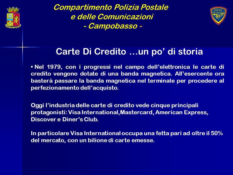 Compartimento Polizia Postale e delle Comunicazioni - Campobasso - Carte Di Credito …un po di storia Nel 1979, con i progressi nel campo dellelettroni