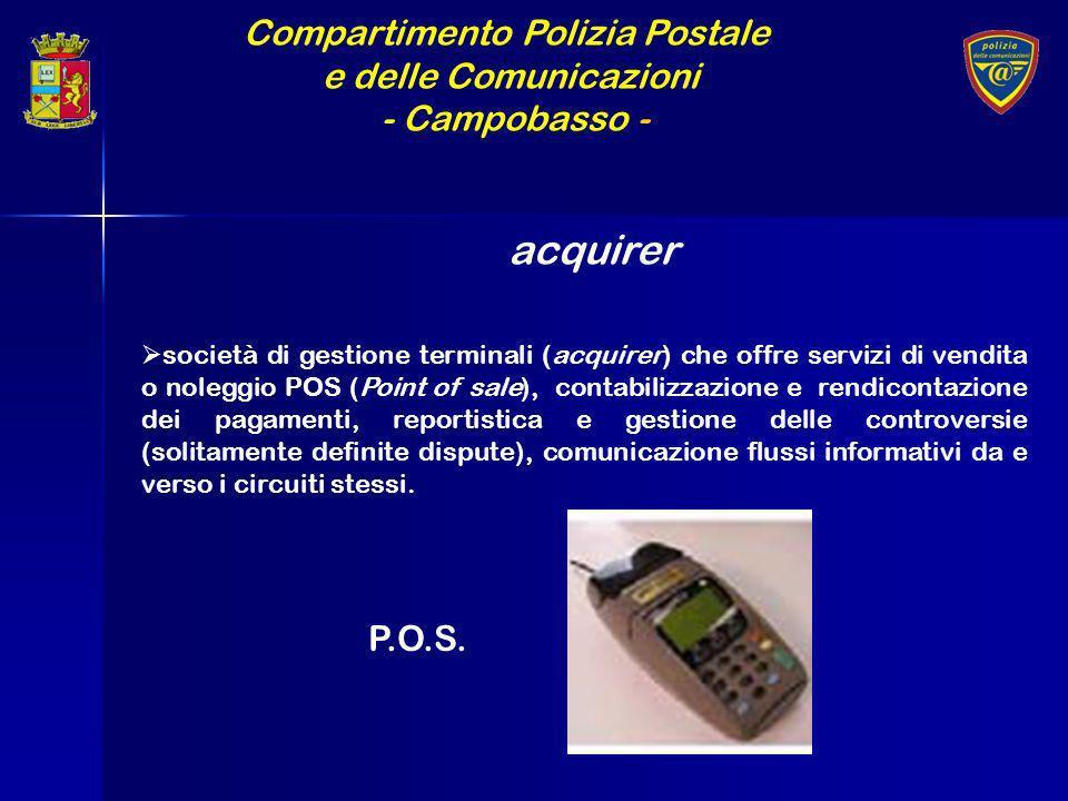 Compartimento Polizia Postale e delle Comunicazioni - Campobasso - acquirer società di gestione terminali (acquirer) che offre servizi di vendita o no