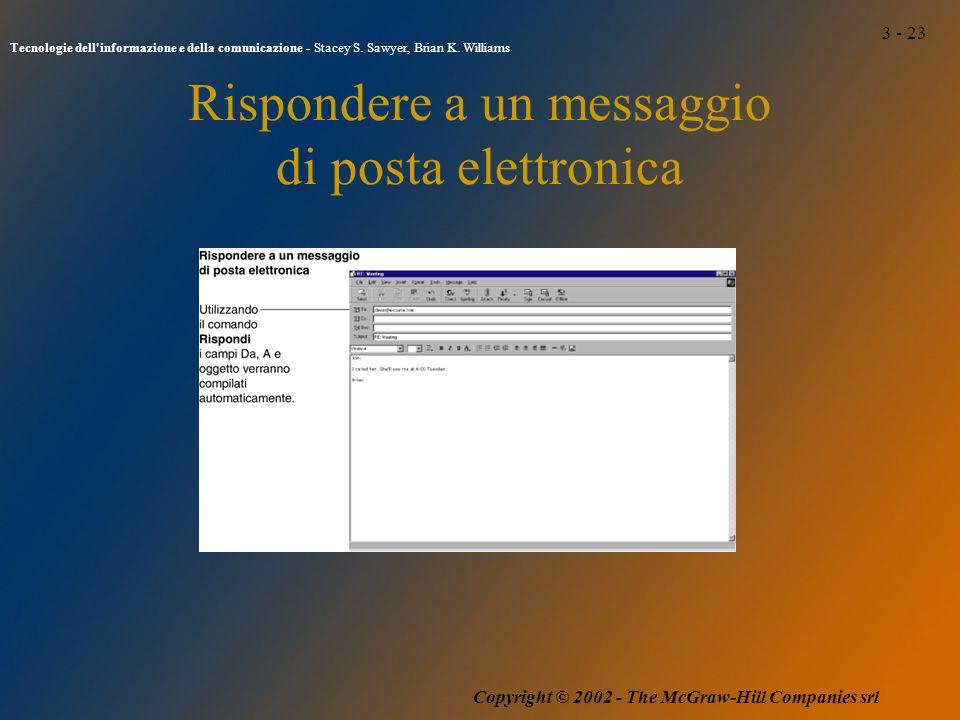 3 - 23 Tecnologie dell informazione e della comunicazione - Stacey S.