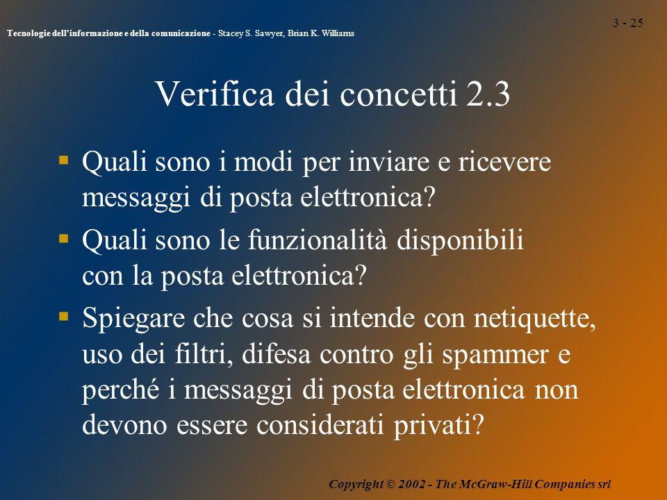 3 - 25 Tecnologie dell informazione e della comunicazione - Stacey S.