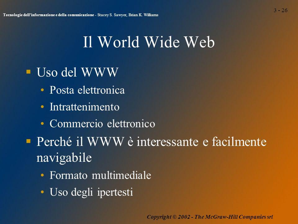 3 - 26 Tecnologie dell informazione e della comunicazione - Stacey S.