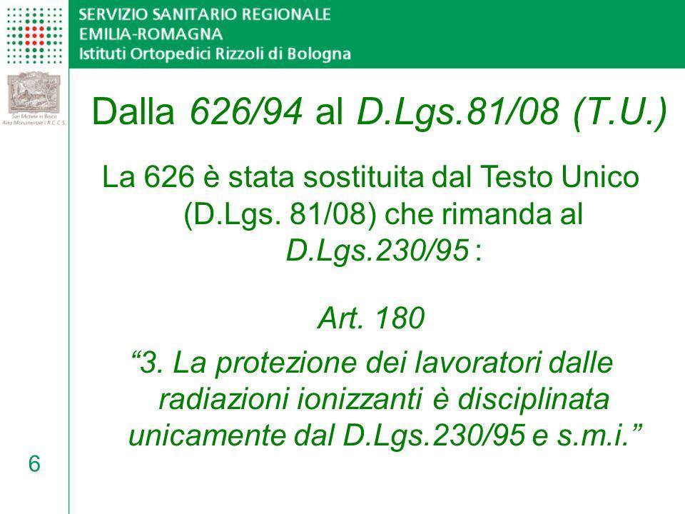 7 D.Lgs. 626 ICRP Testo Unico D.Lgs. 230