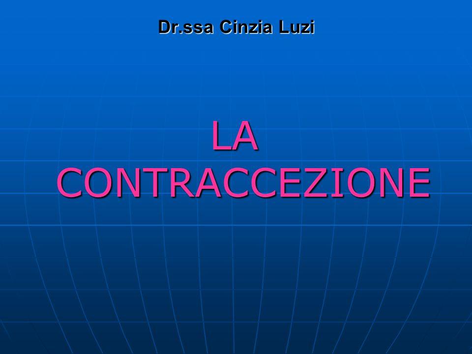 Dr.ssa Cinzia Luzi LA CONTRACCEZIONE