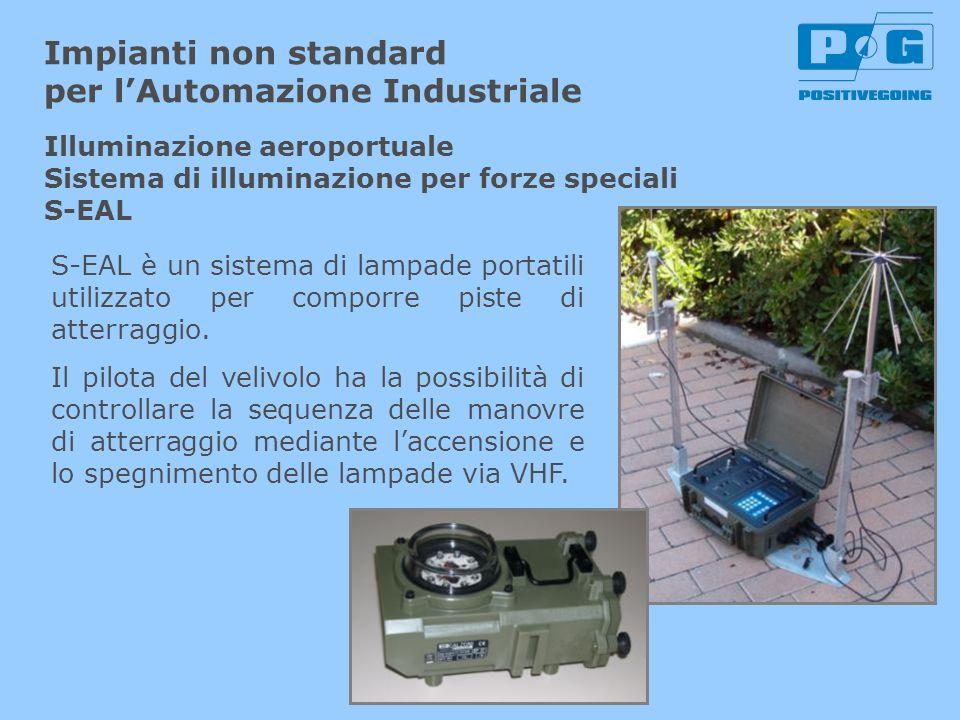 Impianti non standard per lAutomazione Industriale S-EAL è un sistema di lampade portatili utilizzato per comporre piste di atterraggio. Il pilota del