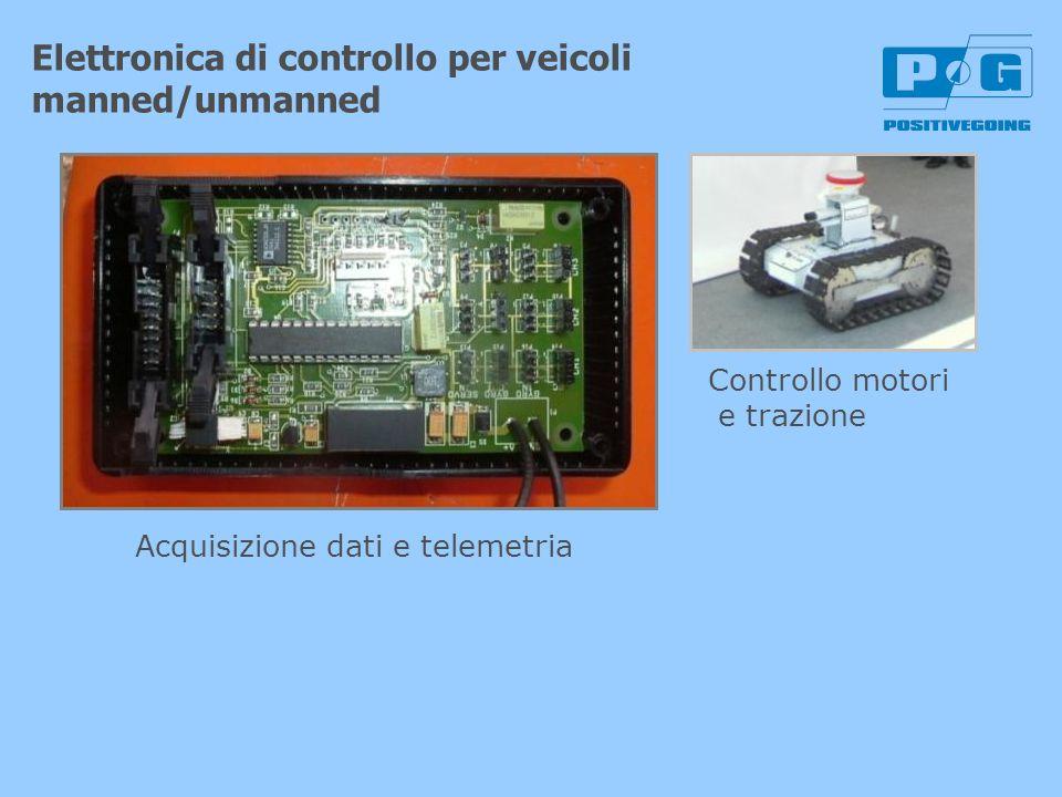 Elettronica di controllo per veicoli manned/unmanned Controllo motori e trazione Acquisizione dati e telemetria