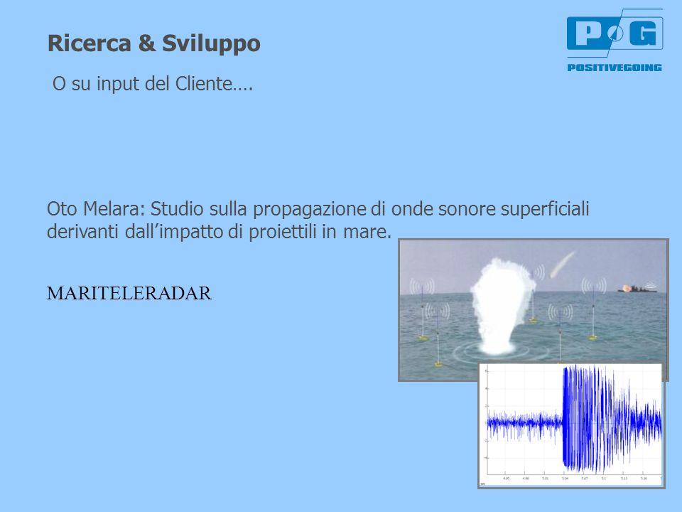 Ricerca & Sviluppo Oto Melara: Studio sulla propagazione di onde sonore superficiali derivanti dallimpatto di proiettili in mare. MARITELERADAR O su i