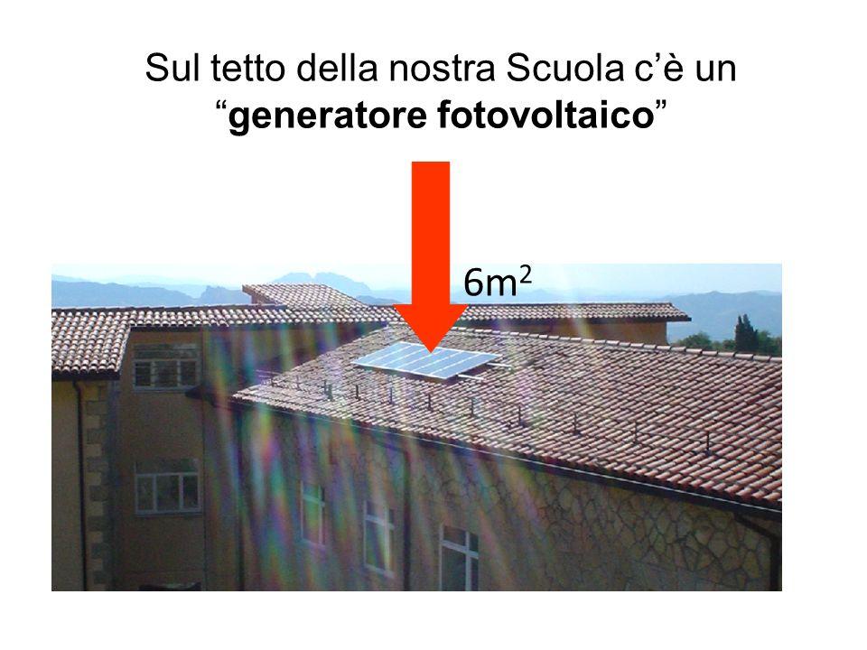 Sul tetto della nostra Scuola cè ungeneratore fotovoltaico 6m 2