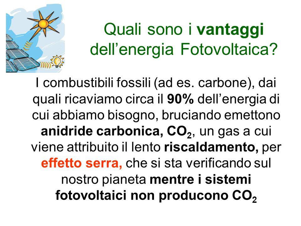 Quali sono i vantaggi dellenergia Fotovoltaica. I combustibili fossili (ad es.