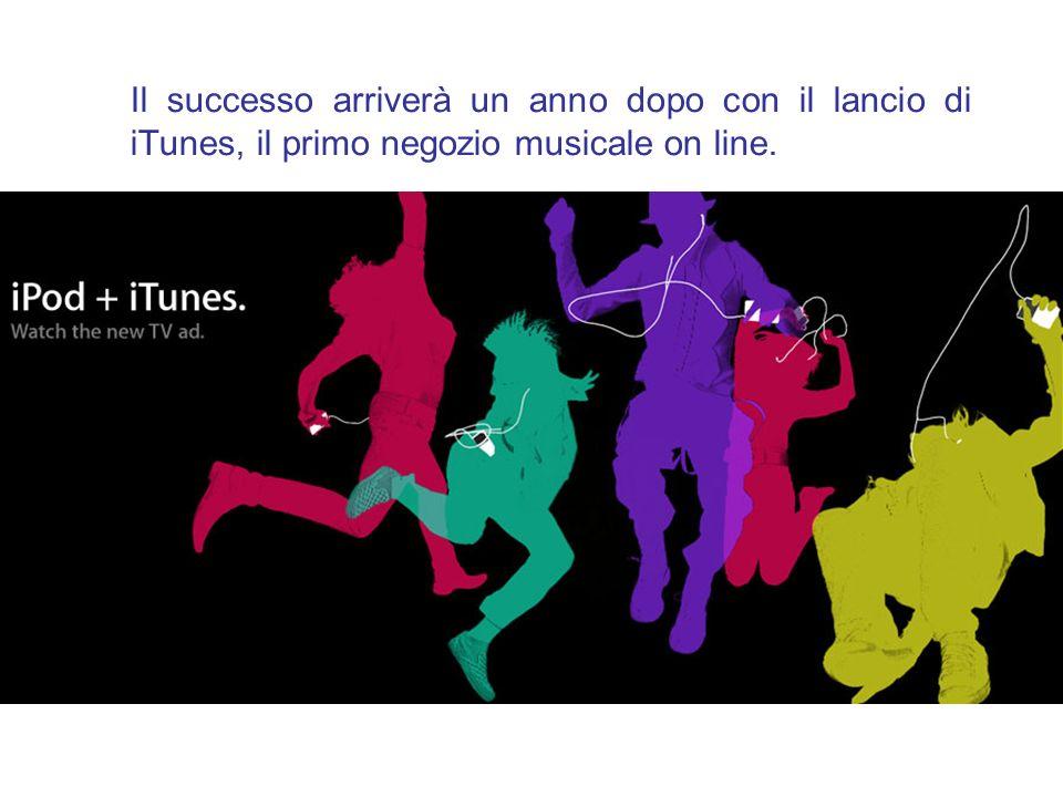 Il successo arriverà un anno dopo con il lancio di iTunes, il primo negozio musicale on line.