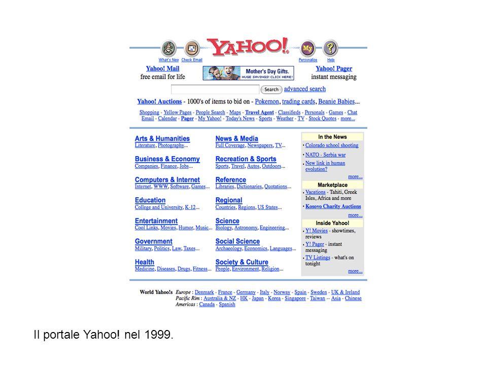 Il portale Yahoo! nel 1999.