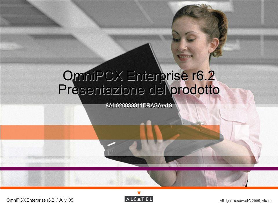 All rights reserved © 2005, Alcatel OmniPCX Enterprise r6.2 / July 05 OmniPCX Enterprise r6.2 Presentazione del prodotto 8AL020033311DRASA ed 9