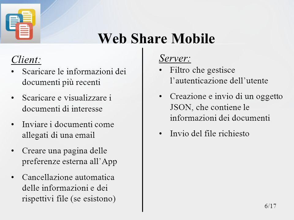 Funzionamento dellApp Richiesta informazioni Richiesta Documento OK – Invio JSON KO – Invio msg di errore OK – Invio Dodumento......