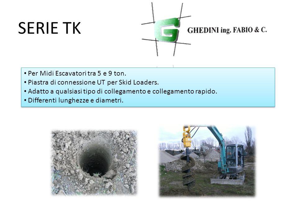 SERIE TK Per Midi Escavatori tra 5 e 9 ton. Piastra di connessione UT per Skid Loaders. Adatto a qualsiasi tipo di collegamento e collegamento rapido.