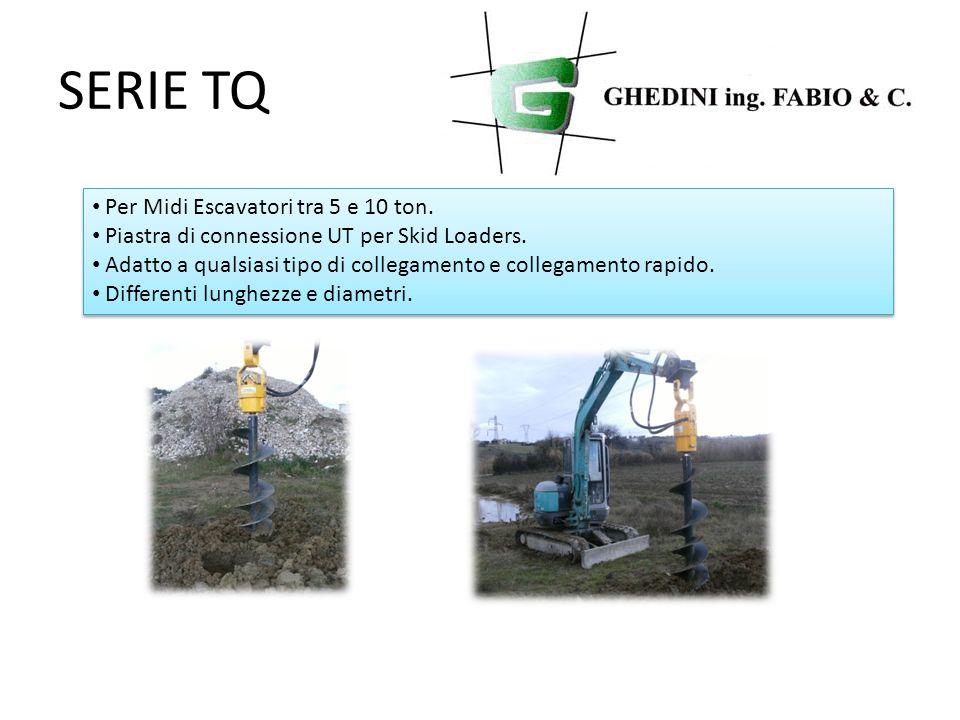 SERIE TQ Per Midi Escavatori tra 5 e 10 ton. Piastra di connessione UT per Skid Loaders. Adatto a qualsiasi tipo di collegamento e collegamento rapido