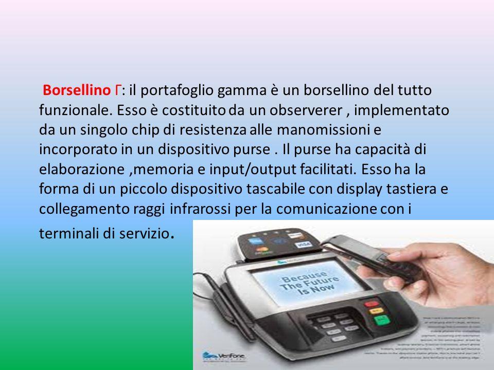 Borsellino Г: il portafoglio gamma è un borsellino del tutto funzionale.