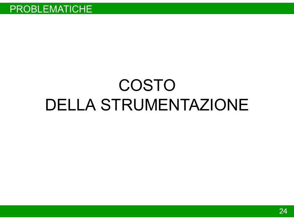 PROBLEMATICHE 24 COSTO DELLA STRUMENTAZIONE