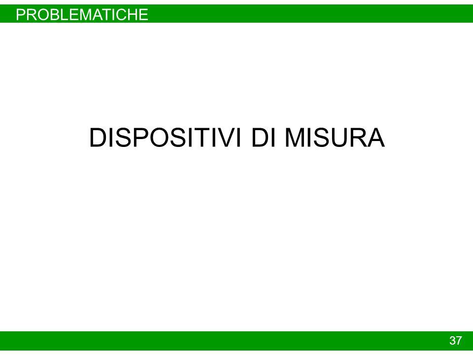 PROBLEMATICHE 37 DISPOSITIVI DI MISURA