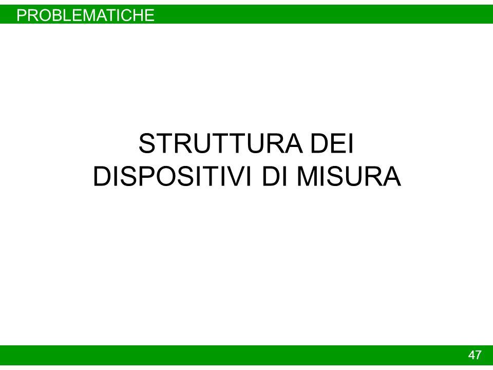 PROBLEMATICHE 47 STRUTTURA DEI DISPOSITIVI DI MISURA