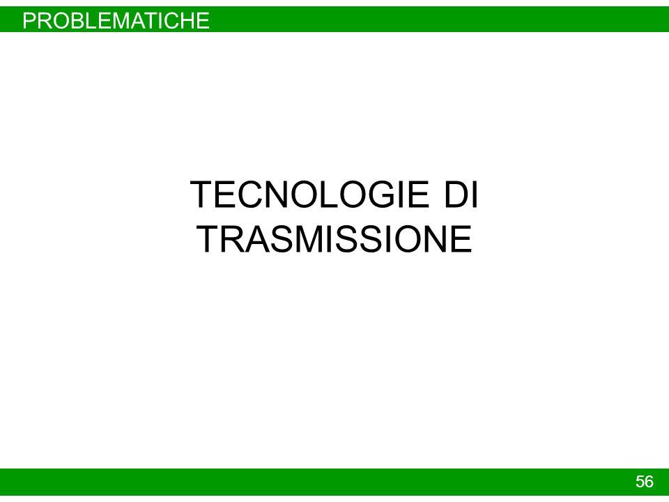 PROBLEMATICHE 56 TECNOLOGIE DI TRASMISSIONE