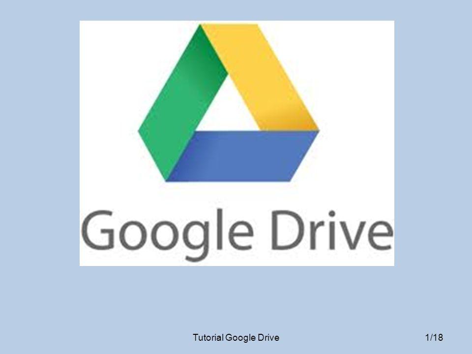 ALTRI PULSANTI Selezionando un file o una cartella apparirà una riga di altri comandi Tutorial Google Drive 12/18 Nuova cartella CondividiOrganizzaRimuoviAnteprima