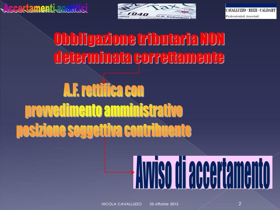 Avviso di accertamento: DELEGA DI FIRMA 25 ottobre 2013 13 NICOLA CAVALLUZZO