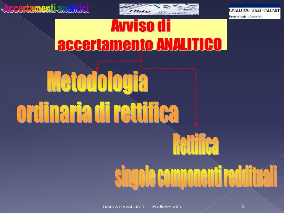 Avviso di accertamento: DELEGA DI FIRMA 25 ottobre 2013 14 NICOLA CAVALLUZZO