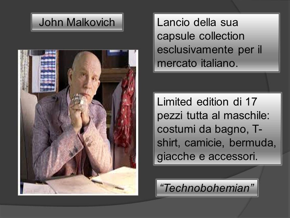 John MalkovichLancio della sua capsule collection esclusivamente per il mercato italiano. Limited edition di 17 pezzi tutta al maschile: costumi da ba