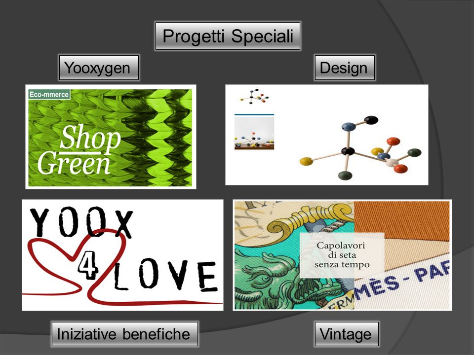 Progetti Speciali YooxygenDesign VintageIniziative benefiche