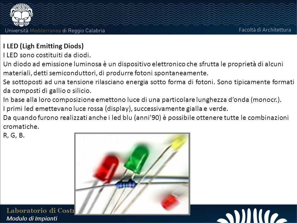 LABORATORIO DI COSTRUZIONI 25 FEBBRAIO 2011 I LED (Ligh Emitting Diods) I LED sono costituiti da diodi. Un diodo ad emissione luminosa è un dispositiv