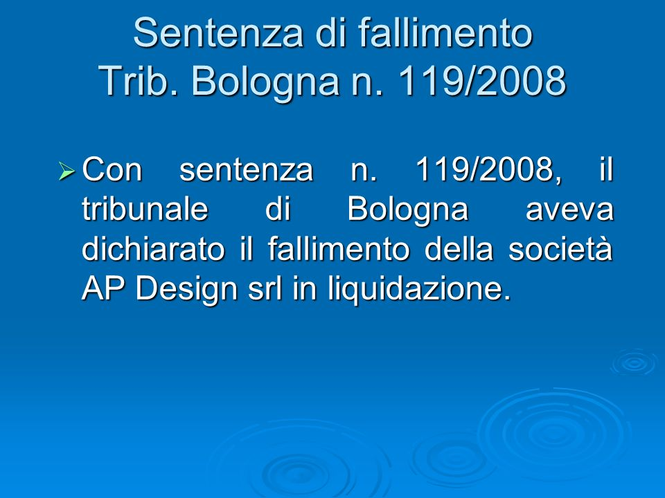 Appello Bologna 20-04-2009 n.
