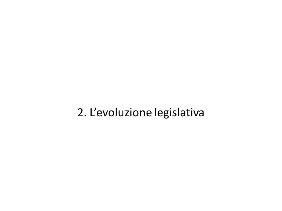2. Levoluzione legislativa